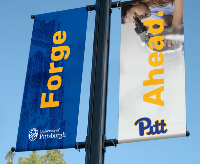 Image of a campus banner