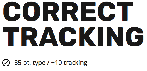 example of tracking that is correct in a headline