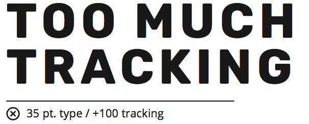 example of too much tracking in a headline